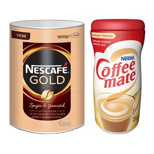 Nescafe Gold Teneke Kutu 900 Gr + Coffee Mate 400 Gr